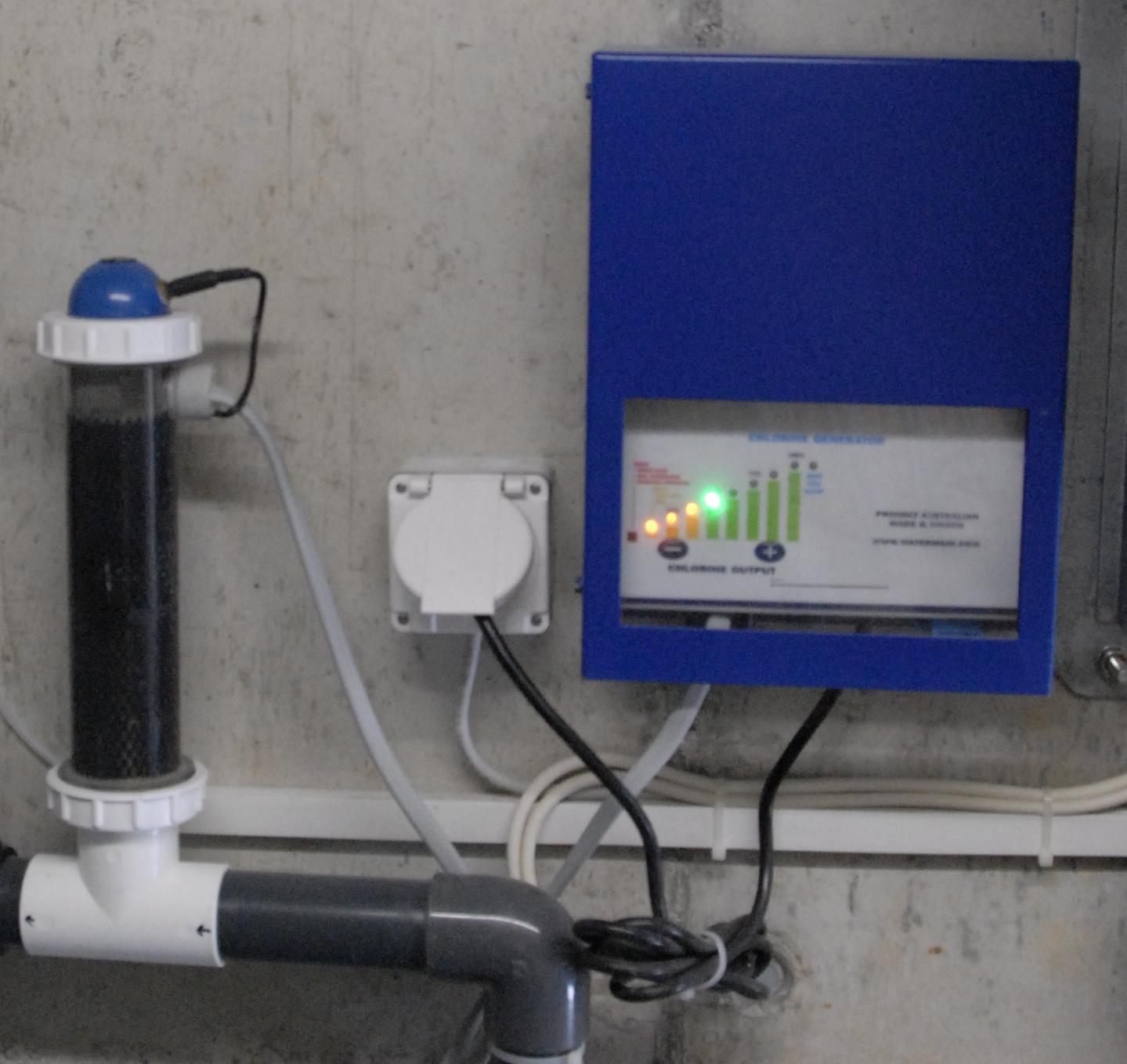 Chlorinator System mit Zelle
