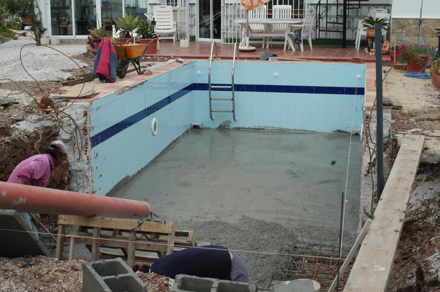 4 Pool Umbau