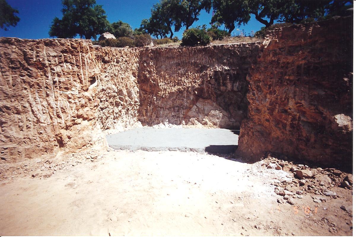 5 Pool und Felsenkeller Betonarbeiten